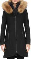 Soia and Kyo Fur Collar Tweed Coat