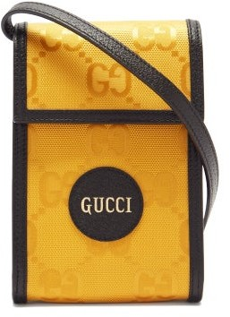 Gucci Off The Grid Gg-jacquard Canvas Cross-body Bag - Yellow