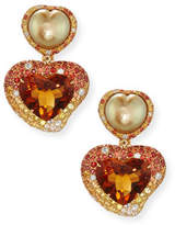 Margot McKinney Jewelry Hearts Desire South Sea Pearl & Madeira Citrine Drop Earrings