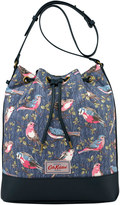 Cath Kidston Small Garden Birds Canvas & Leather Drawstring Bag