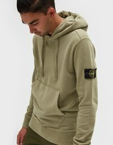 Stone Island Cotton Fleece Garment Dyed Sweatshirt in Beige