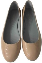 Sergio Rossi Beige Patent leather Ballet flats