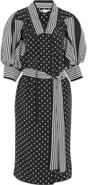 Stella McCartney Valeria Ruffled Printed Silk Dress - Black