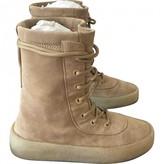 Yeezy Beige Suede Boots