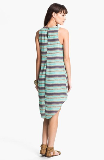 Lush Print High/Low Shift Dress (Juniors) Blue Small