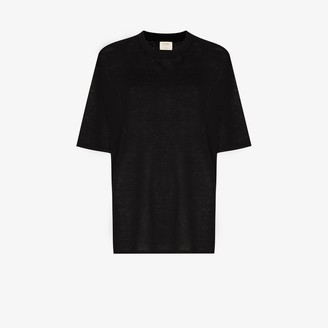 ST. AGNI Copain Linen Short Sleeve T-Shirt