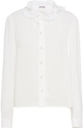 Miu Miu Lace Collar Shirt