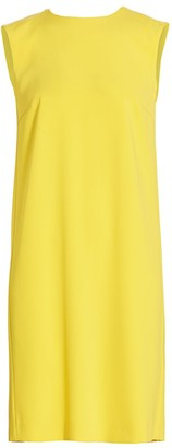Escada Dehilla Sleeveless Pleat-Back Shift Dress