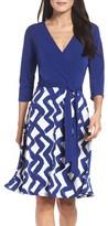 Leota Women's Faux Wrap Matte Jersey Dress