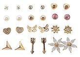 Charlotte Russe Embellished Stud Earrings Set - 12 Pack