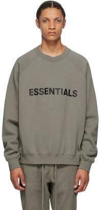 Essentials Grey Crewneck Pullover Sweatshirt