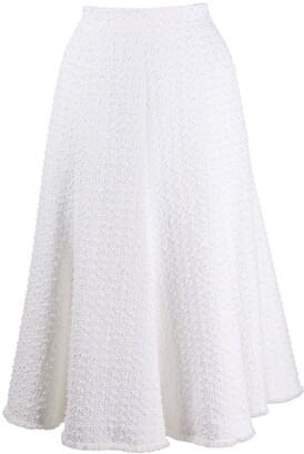 Thom Browne Flounce Tweed Skirt