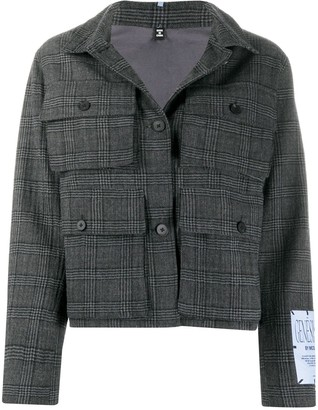 Mcq Swallow Front Pockets Checked Jacket