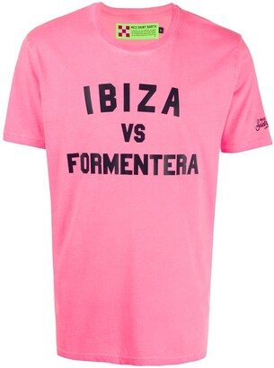 MC2 Saint Barth Ibiza vs Formentera print T-shirt