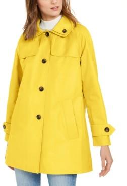 London Fog Hooded Water-Resistant Raincoat