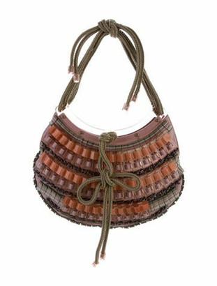 Stella McCartney Multi Embellished Braid-Trimmed Handle Bag Brass