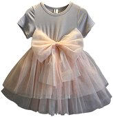 BiggerStore Toddler Baby Girls Summer Party Wedding Playwear Sequins Tutu Dresses with Big Bow