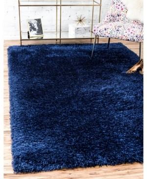 Monroe Marilyn Shag Mms001 Blue Jeane 9' x 12' Area Rug