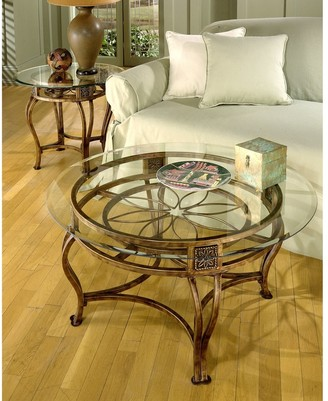 Hillsdale Scottsdale Collection Bronze Finish Glass Top Cocktail Table