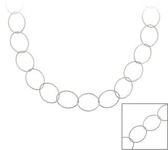 Mondevio Sterling Silver 18-inch Italian Intertwined Loop Chain