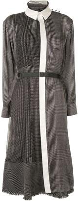Sacai Contrast-Panel Shirt Dress
