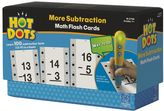 Educational Insights Hot Dots Math Flash Cards - More Subtraction