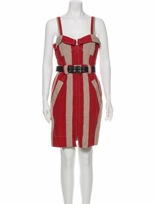 Marc Jacobs Striped Mini Dress Red