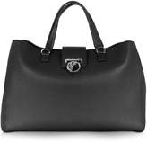 Versace Alce Black Leather Tote