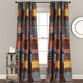"Lush Decor Misha Room Darkening Window Curtain Panel Set, 84"" x 52"", Multicolor"