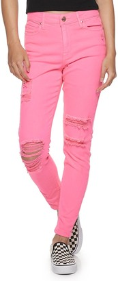 Almost Famous Juniors' High Rise Skinny Neon Pants