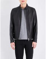 HUGO BOSS Zip-up leather jacket