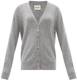 KHAITE Amelia V-neck Cashmere Cardigan - Grey