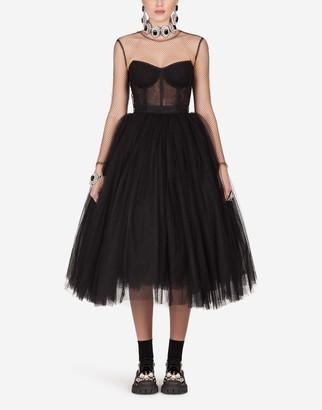 Dolce & Gabbana Long-Sleeved Tulle Dress