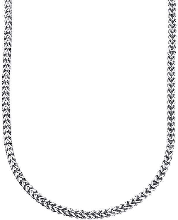 JCPenney FINE JEWELRY Mens Stainless Steel Franco Link Chain Necklace