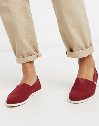 Toms espadrilles in burgundy canvas