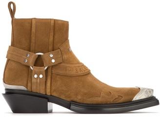 Balenciaga Santiag Harness Ankle Boots