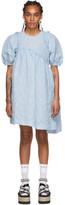 Simone Rocha Blue Asymmetric Waist Dress