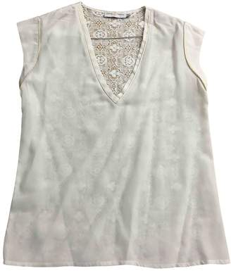 Koshka Mashka White Silk Top for Women