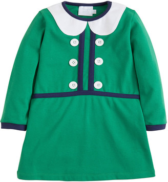 Little English Girl's Sophie Button-Front Dress, Size 18M-8