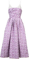 Rochas spaghetti strap floral evening dress