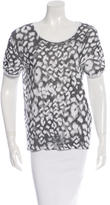 Sandro Printed Short Sleeve Top w/ Tags