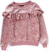 Takara Big Girls 7-16 Velvet Ruffle Sweater