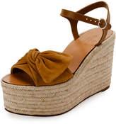 Valentino Tropical Bow Espadrille Wedge Sandal