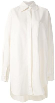 Aluf Savannah asymmetric shirt dress