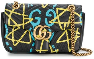 Gucci Pre Owned Quilted Star Print Shoulder Bag