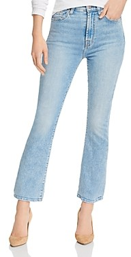 7 For All Mankind High-Waist Slim Kick Flare Jeans in Melrose