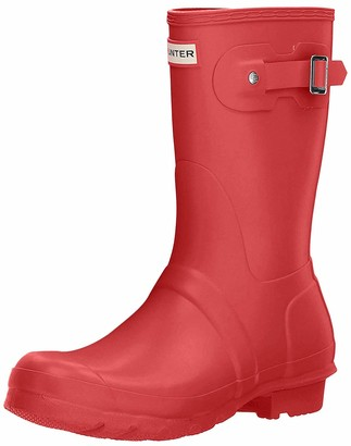 Hunter Short Women's Wellington Boots Red (Military Red) 5 UK (38 EU)