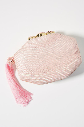 Rafe Sofia Woven Clutch By in Pink Size ALL