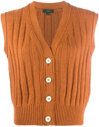 Jejia Sleeveless Rib-Knit Cardigan