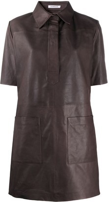 P.A.R.O.S.H. Brown Leather-Look Dress